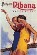 Austrian advertisment poster - Bengers Ribana swimsuit